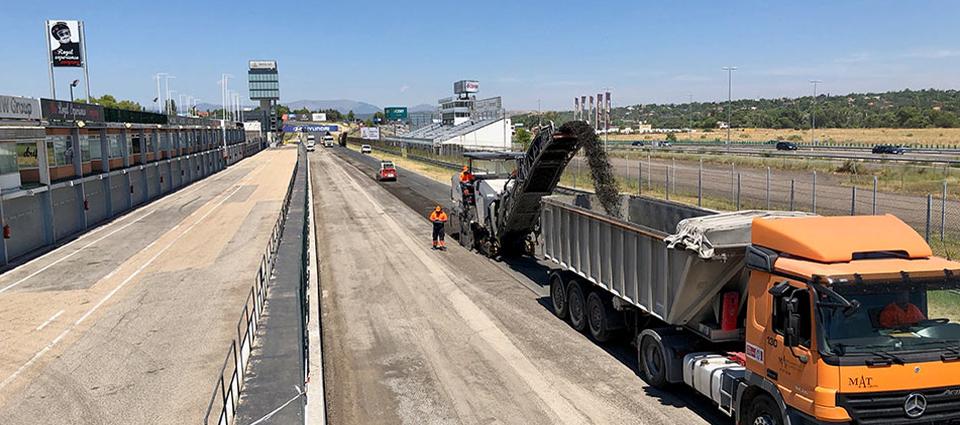 El Circuito del Jarama – RACE comienza el reasfaltado de su trazado
