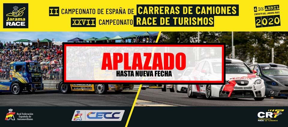 campeonato race de turismos y campeonato de espana de carreras de camiones-aplazado
